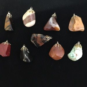 Jewelry - Lot of VTG Polished Gemstone Pendants